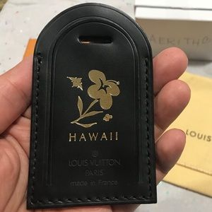 Louis Vuitton Black Luggage Tag Hot stamper Hawaii